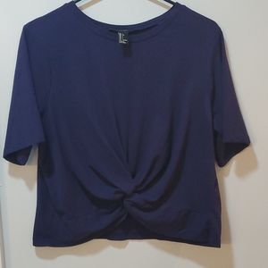 Forever 21 Crop Knot Top L